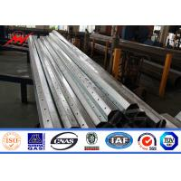 Buy cheap 8M Height 11M Width Roadway Driveway Traffic Light Pole Galvanised Steel Pole from wholesalers