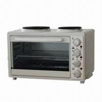 China 33L Oven Toaster with S/S Heating Elements/2 Integrated Cooking Plates/PBT Plastic Door Handle on sale