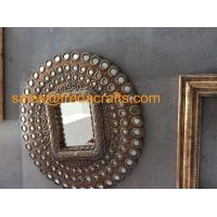 Wholesale High Quality New Design Round PU decorative Wall Mirror For Living room/Hotel from china suppliers