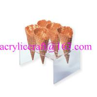 Wholesale 6 holes acrylic waffle cone tray, transparent acrylic ice cream cone holder from china suppliers
