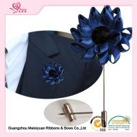 Wholesale Satin Ribbon diy Flower Lapel Pin boutonniere For Formal Occasion various color from china suppliers