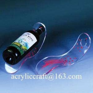 Wholesale Tùy 5mm rõ ràng Bảng Top Acrylic Độc Slant Rượu Chai Display Đứng from china suppliers