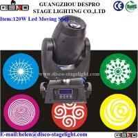 Wholesale DMX 120W LED Moving Head Spot Light 9 Gobos Sound Activated Lights from china suppliers