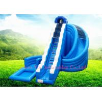 Wholesale Commercial 9x6m 0.55mm PVC Wave Inflatable Water Slide with CE Blower for Outdoor from china suppliers