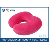 Wholesale Customized Soft Plush Cover U Shaped Memory Foam Travel Neck Pillow For Seated from china suppliers