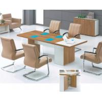 China Modern 2.4m melamine conference table with storage in warehouse for sale