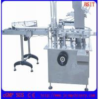 Buy cheap 3 E-liquid bottles into one box packing machine one box with three bottles capacity 60-80pcs/min from wholesalers