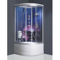 Wholesale Glass back panel rain shower steam shower cubicle portable massage shower room from china suppliers