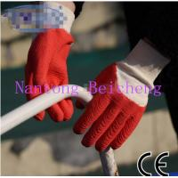 Wholesale Cotton Dyed Latex Coated Gloves with Interlock Knit-wrist Open Back Dip from china suppliers
