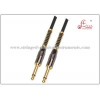 Wholesale Flexible Black Audio PA Systems PVC Spiral Guitar Cable Instrument Cables from china suppliers