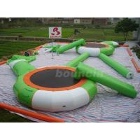 Wholesale 0.9mm PVC Tarpaulin Inflatable Water Trampoline Combo For Water Park from china suppliers