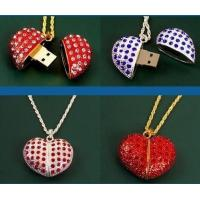 Wholesale Company Gift Heart Shape Crystal Jewelry USB Flash Drive 16GB from china suppliers