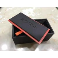 Wholesale Black Jewelry Packaging Leather Cufflink Box With Removed Cover from china suppliers