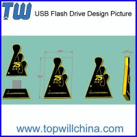 Wholesale Custom Thumb Drive for Your Unique USB PVC Product Company Brand from china suppliers