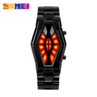 Wholesale Hot Red Light Metal Strap Watch , Men Business Wrist Watch SKMEI from china suppliers