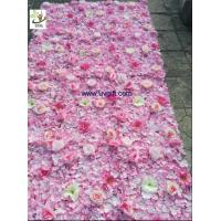 Wholesale UVG pink hydrangea wedding flower wall for background decoration CHR1148 from china suppliers