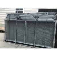 Buy cheap 1830mm x 2950mm/ 6'x9.6'  vertical brace construction fencing panels HDG 366gram/sqm from wholesalers