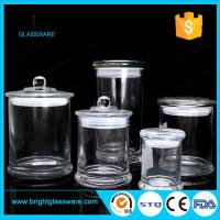 Wholesale 3oz 8oz 12oz glass candle jar in stock, best quality clear metro glass jar from china suppliers