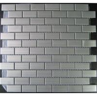 Wholesale Stainless Brushed Strip Metal Mosaic Tiles With Porcelain Base 23x48, 48x48 from china suppliers