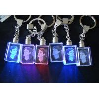 Personalized 2d Laser Engraved Crystal Keychain Of Item