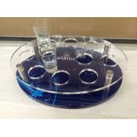 Wholesale Customized Acrylic Wine Display Case , Wine Glass Tray With Logo from china suppliers