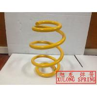 yellow coated Barrel Spring suspension coil spring made with alloy steel 55CrSi