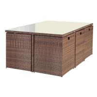 Wholesale 11 Pcs Wicker Outdoor Dining Furniture For Garden / Coffee Shop / Home from china suppliers