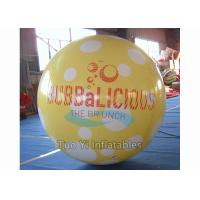 Wholesale Commercial Activity Inflatable Sphere Branded Balloon White / Yellow / Blue Color from china suppliers