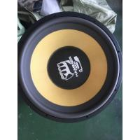 Wholesale Wired 18 Inch Competition Subwoofer , Carbon Fiber Auto Audio Subwoofer Foam Surrounded from china suppliers