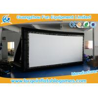Wholesale Logo Black Color Inflatable Projector Screen / Moive Screen For Outdoor And Indoor from china suppliers