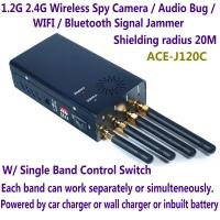 Wholesale 1.2G 2.4G Wireless Spy Camera Audio Bug WIFI Bluetooth Signal Jammer Blocker Single Switch from china suppliers