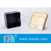 Wholesale OEM Square Panel Copper / GFCI Receptacles Round Aluminum Aloy POP-up Type Floor Socket from china suppliers