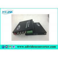 Quality 4 Channel TVI video to fiber converter with 1 CH contact closure via single mode fiber transmitter for sale