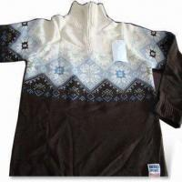 Wholesale Men's Outdoor Sweaters, Made of 55% Cotton and 45% Acrylic from china suppliers