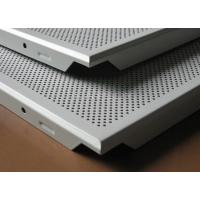 Wholesale Moisture - Proof And Fireproof round hole Perforated metal false ceiling tile 600 x 600 for Offices from china suppliers