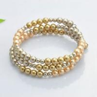 Wholesale Personalized Costume Faux Pearl Stretch Bangle Bracelets Multi Colored And Size from china suppliers