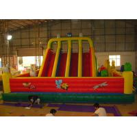 Wholesale Red Outdoor Inflatable Amusement Park Playground With Slide For Commercial Rent from china suppliers