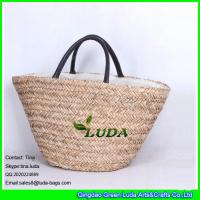 Wholesale LUDA handmade seagrass straw handbag large straw beach tote bag from china suppliers