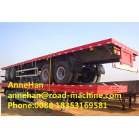 Wholesale 40 Foot High Flatbed Semi Truck Trailer 3 FUWA Axles For Carry Container , Cement Bags from china suppliers