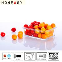 Buy cheap Oven Safe Rectangular Glass Storage Containers 400ml , Watertight Glass Container from wholesalers