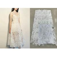 Wholesale Shiny Sequin Embroidered Floral Beaded Bridal Lace Fabric Light And Transparent Texture from china suppliers