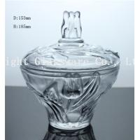 Wholesale luxury design glass fruit plate, glass candy container with lid from china suppliers