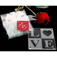 Wholesale LOVE Glass Coaster Set(set of 4) from china suppliers