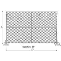 """Wholesale ''Genius Youth"""" 6ft x 12ft temporary chain link fence 1 5/8"""" tube thick 16ga chain mesh 2.25"""" x 2.25"""" TOPFE/57mm x 57mm from china suppliers"""