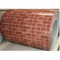Wholesale Beautiful Brick Pattern Color Coated Steel Coils Corrosion Resistance from china suppliers