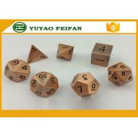 Wholesale Custom Polyhedral Set 6 Sided Dice Sets RPG Black Finish Metal Dice Game Set from china suppliers