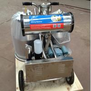 Quality Double Buckets Mobile Milk Pump Machine / Portable Milking Machine 25L * 2 for sale