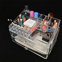 Wholesale Clear acrylic/Perspex cosmetic/makeup drawer organizer with lid, Lucite drawer box from china suppliers