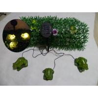 Buy cheap Set of 3(2Big and 1Small)Green Frogs With Solar Light from wholesalers