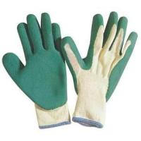 Wholesale Cotton working gloves with rubber on the palm with knit wrist for heavy duty work from china suppliers